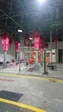 Dressing up the pillars for CNY