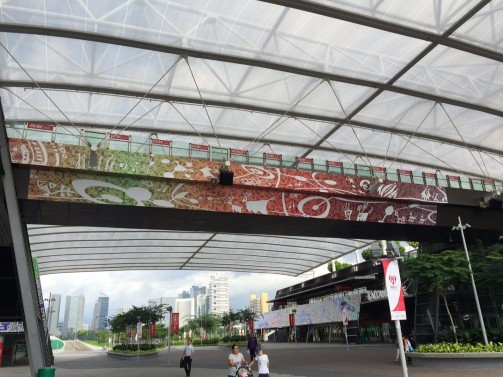 Celebrating National Day with festive banners