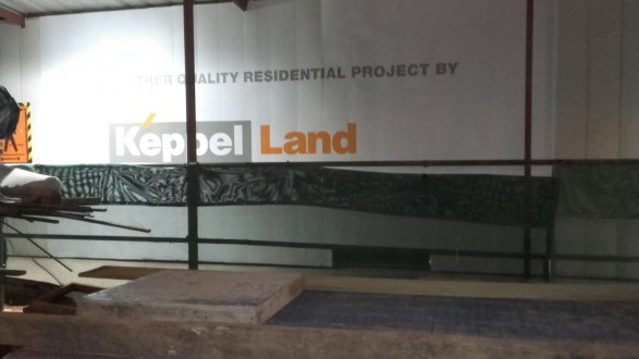 Hoarding stickers for Keppel Land