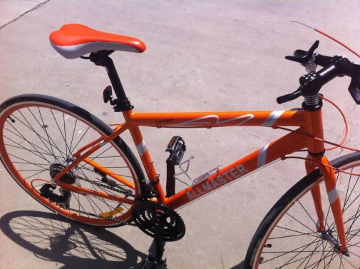 You'll not miss this orange bike during a race!