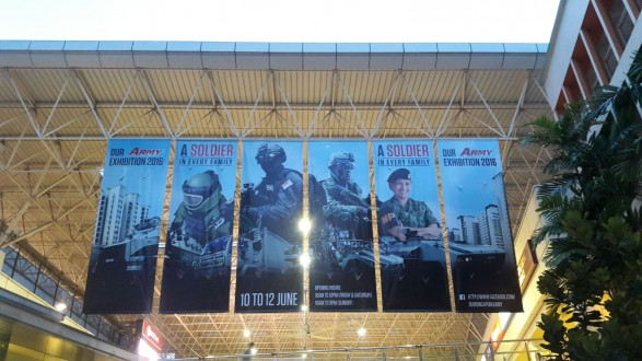 Our Army Exhibition Large Format Banner at HDB Hub