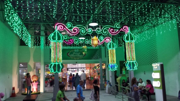 Hari Raya Building Decor