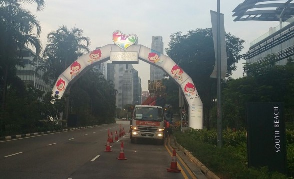 city dressing customised arch #aseanparagames2015
