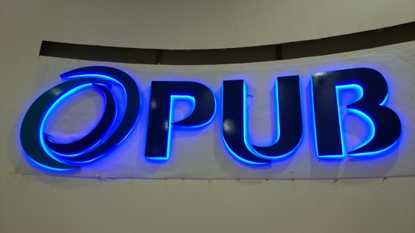 PUB lighted sign
