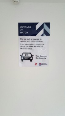 Sign at carparj