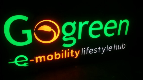 Go Green Sign Night View