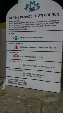 Construction Project Signboard