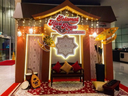Hari Raya Festive Decoration Backdrop